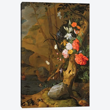Peonies, Roses, Lilies, Poppies And Other Flowers Canvas Print #BMN4461} by Rachel Ruysch Canvas Artwork