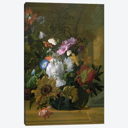 Flower Still Life Canvas Print #BMN4462} by Rachel Ruysch Canvas Wall Art