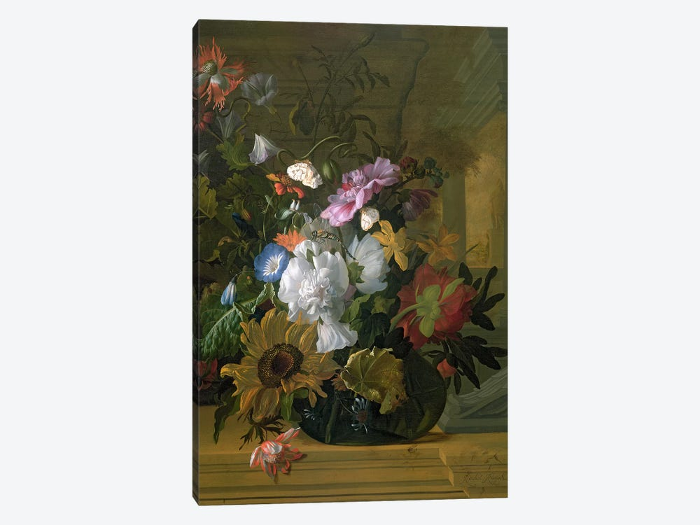 Flower Still Life by Rachel Ruysch 1-piece Canvas Wall Art