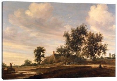 Extensive wooded landscape  Canvas Art Print