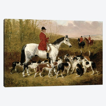The Start Canvas Print #BMN4466} by John Frederick Herring Jr Art Print