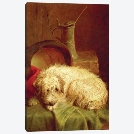 A Terrier Canvas Print #BMN4467} by John Fitz Marshall Art Print