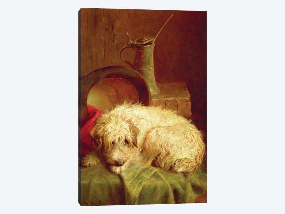 A Terrier by John Fitz Marshall 1-piece Canvas Art Print