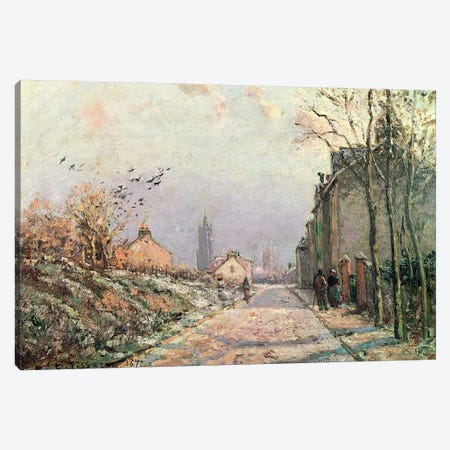 The Road, Effect of Winter, 1872  Canvas Print #BMN4468} by Camille Pissarro Canvas Artwork