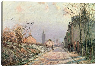 The Road, Effect of Winter, 1872 Canvas Art Print