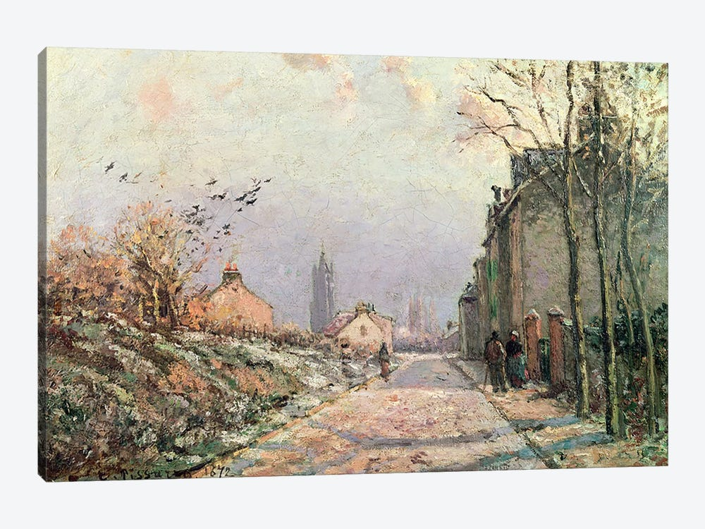 The Road, Effect of Winter, 1872  by Camille Pissarro 1-piece Canvas Artwork