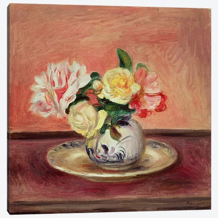 Vase of Flowers Canvas Print #BMN4469} by Pierre-Auguste Renoir Canvas Art
