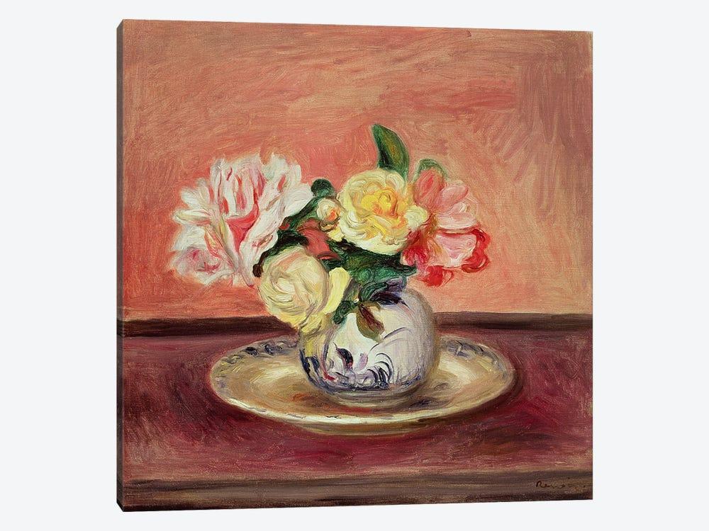 Vase of Flowers by Pierre-Auguste Renoir 1-piece Canvas Print