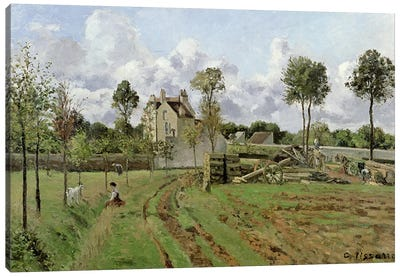 Landscape, Louveciennes, c.1872  Canvas Art Print
