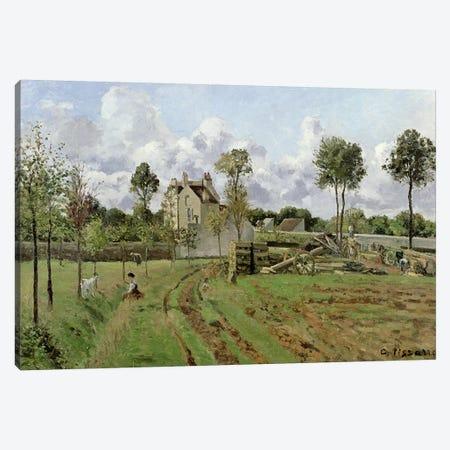 Landscape, Louveciennes, c.1872  Canvas Print #BMN446} by Camille Pissarro Canvas Print