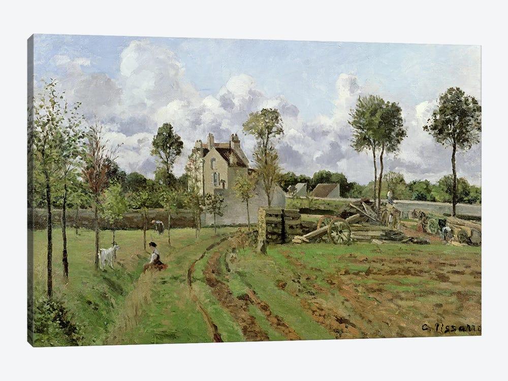 Landscape, Louveciennes, c.1872  by Camille Pissarro 1-piece Canvas Artwork
