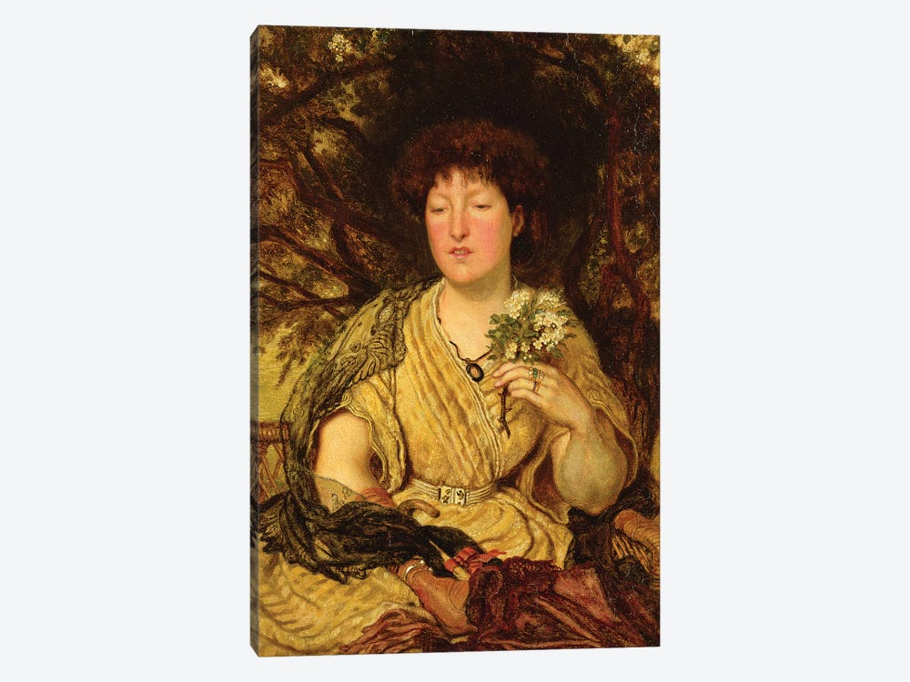 May Memories  by Ford Madox Brown 1-piece Canvas Artwork