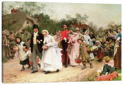 The Village Wedding, 1883  Canvas Art Print
