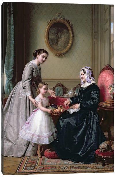 Interior at 'The Chestnuts' Wimbledon, Grandmother's birthday,  Canvas Art Print