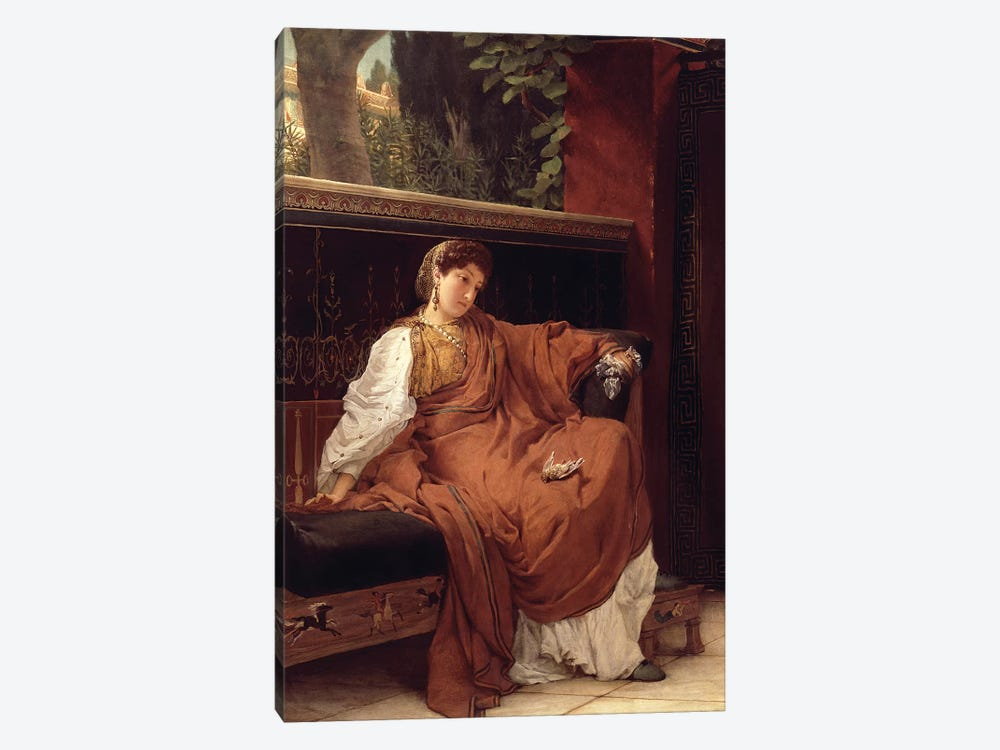 Lesbia Weeping over a Sparrow, 1866  by Sir Lawrence Alma-Tadema 1-piece Canvas Artwork