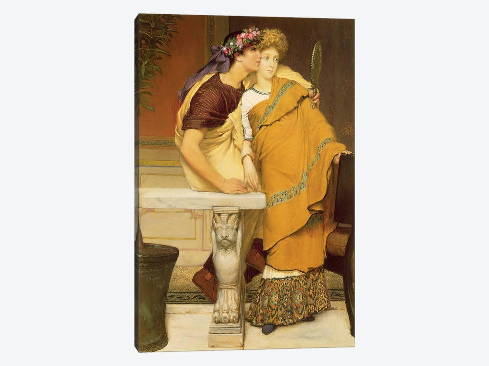 The Mirror, 1868 by Sir Lawrence Alma-Tadema 1-piece Canvas Wall Art
