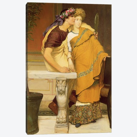The Mirror, 1868  Canvas Print #BMN4479} by Sir Lawrence Alma-Tadema Canvas Print