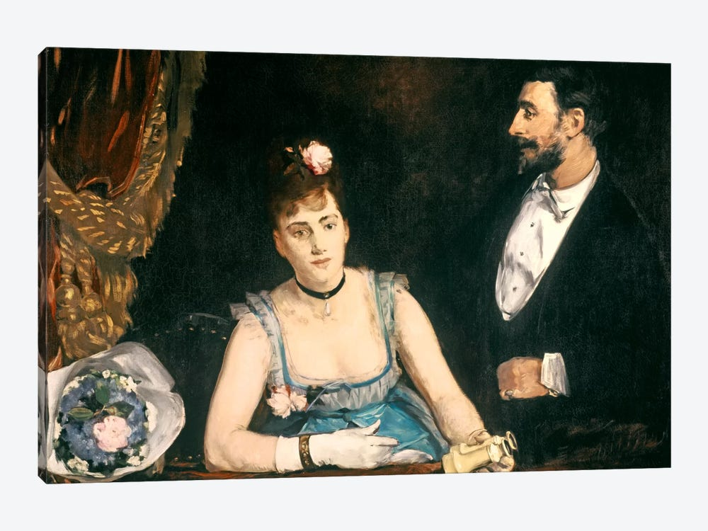 A Box at the Italians' Theatre, 1874 by Eva Gonzales 1-piece Canvas Print
