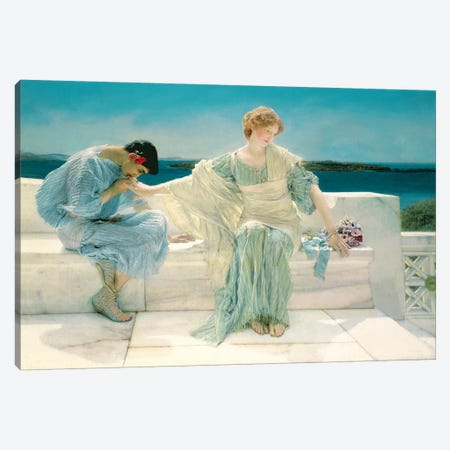Ask me no more, 1906  Canvas Print #BMN4480} by Sir Lawrence Alma-Tadema Canvas Artwork