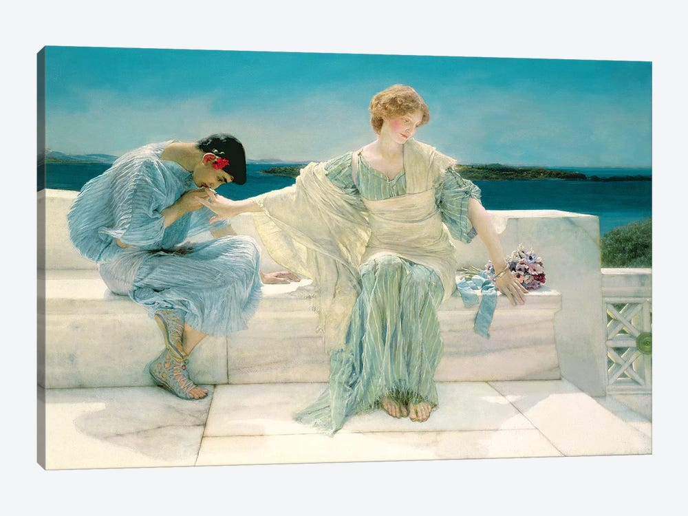 Ask me no more, 1906  by Sir Lawrence Alma-Tadema 1-piece Canvas Wall Art