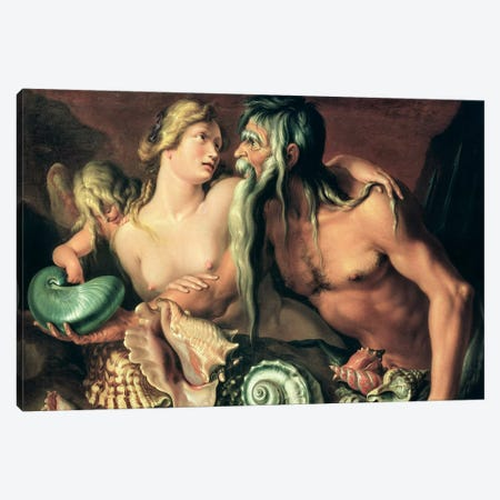 Neptune and Amphitrite  Canvas Print #BMN4482} by Jacques II de Gheyn Canvas Wall Art