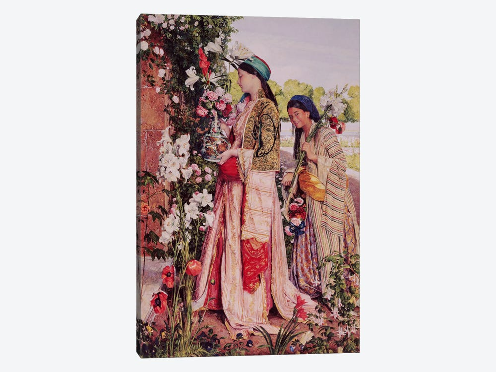 Lilium Auratum by John Frederick Lewis 1-piece Canvas Artwork