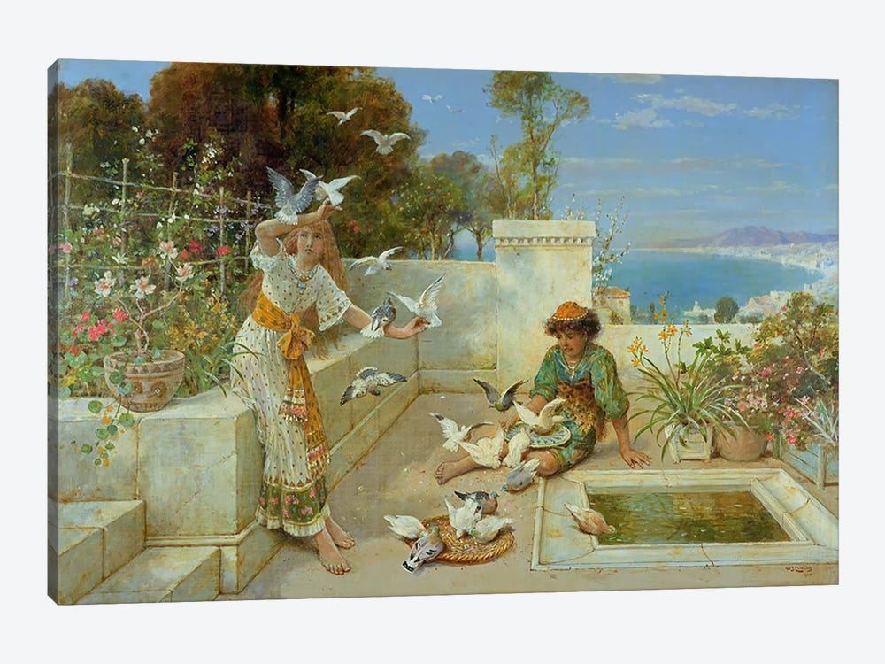 Children by the Mediterranean by William Stephen Coleman 1-piece Art Print