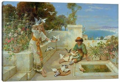Children by the Mediterranean Canvas Art Print