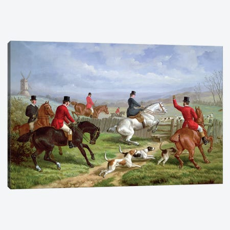 Over the Fence  Canvas Print #BMN4495} by Edward Benjamin Herberte Canvas Wall Art