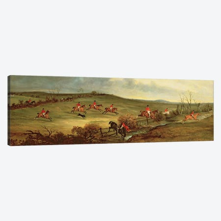 The Quorn in full cry near Tiptoe Hill Canvas Print #BMN4498} by John E. Ferneley Art Print
