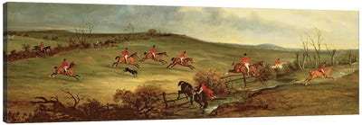 The Quorn in full cry near Tiptoe Hill Canvas Art Print