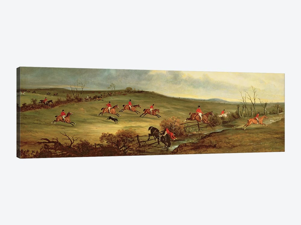 The Quorn in full cry near Tiptoe Hill by John E. Ferneley 1-piece Canvas Art Print