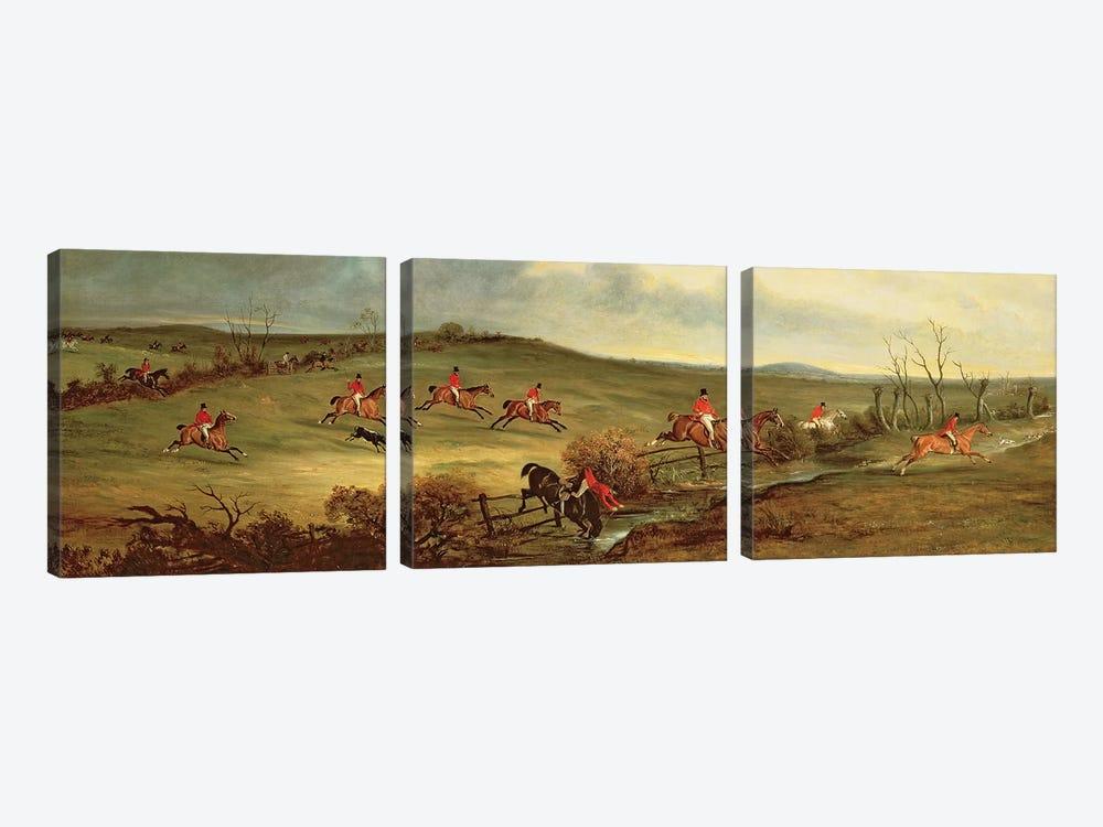 The Quorn in full cry near Tiptoe Hill by John E. Ferneley 3-piece Art Print