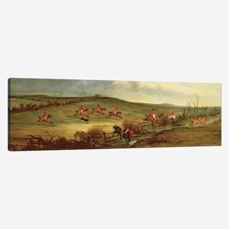 The Quorn in full cry near Tiptoe Hill Canvas Print #BMN4498} by John E. Ferneley Art Print