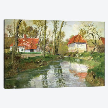 The Dairy at Quimperle  Canvas Print #BMN4500} by Fritz Thaulow Canvas Print