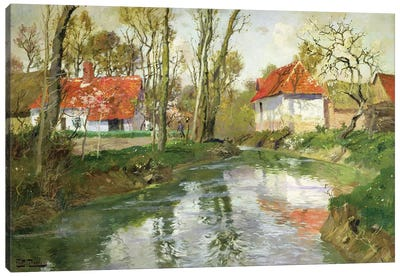 The Dairy at Quimperle  Canvas Art Print