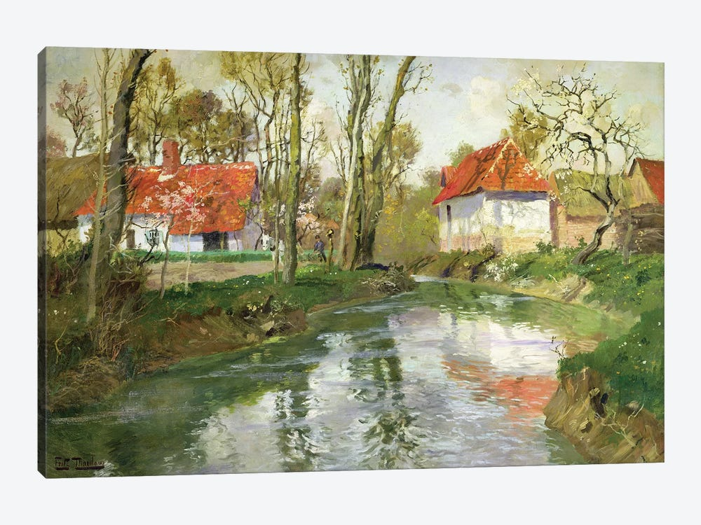 The Dairy at Quimperle  by Fritz Thaulow 1-piece Art Print