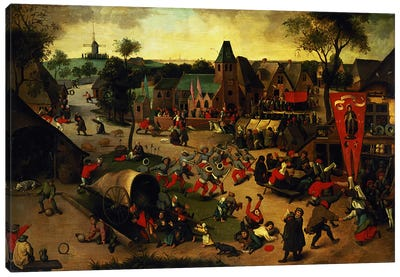 A Carnival on the Feast Day of St. George in a village near Antwerp  Canvas Art Print