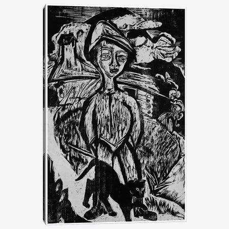 Mountain lad in Storm, 1921  Canvas Print #BMN4507} by Ernst Ludwig Kirchner Canvas Wall Art