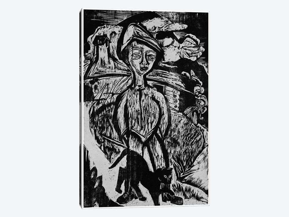 Mountain lad in Storm, 1921 by Ernst Ludwig Kirchner 1-piece Canvas Wall Art
