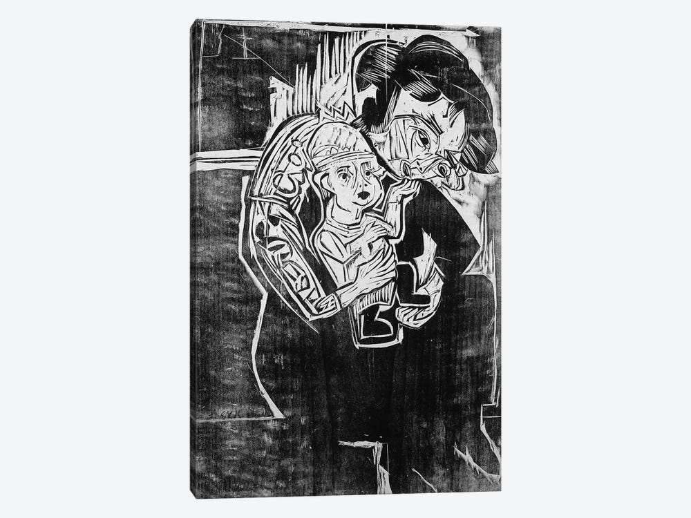 Mother and Child by Ernst Ludwig Kirchner 1-piece Canvas Print