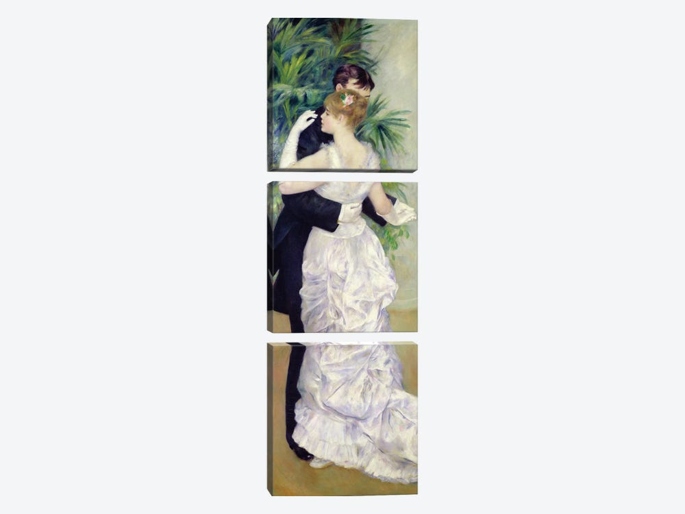Dance in the City, 1883  by Pierre-Auguste Renoir 3-piece Canvas Print