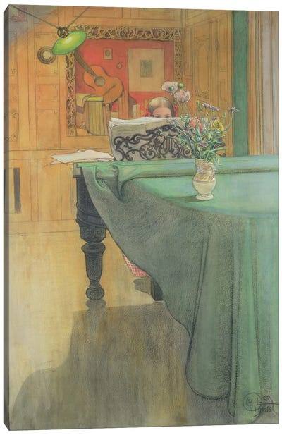 Brita at the Piano, 1908  Canvas Art Print