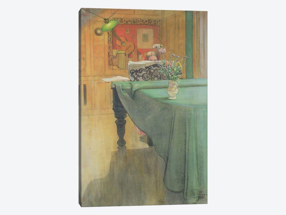 Brita at the Piano, 1908  by Carl Larsson 1-piece Art Print