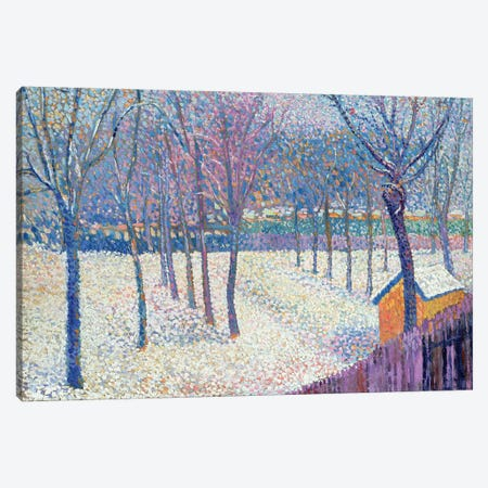 The Orchard under the Snow  Canvas Print #BMN4512} by Hippolyte Petitjean Canvas Art