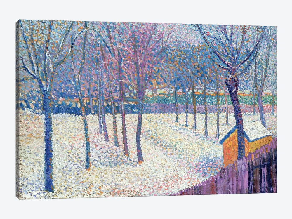The Orchard under the Snow  by Hippolyte Petitjean 1-piece Canvas Wall Art