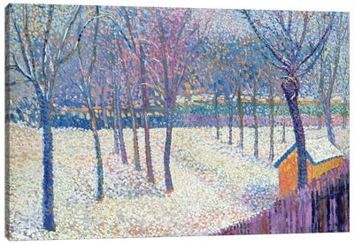 The Orchard under the Snow  Canvas Art Print