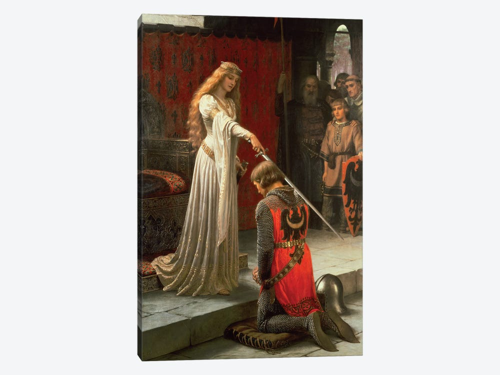 The Accolade, 1901  by Edmund Blair Leighton 1-piece Canvas Print