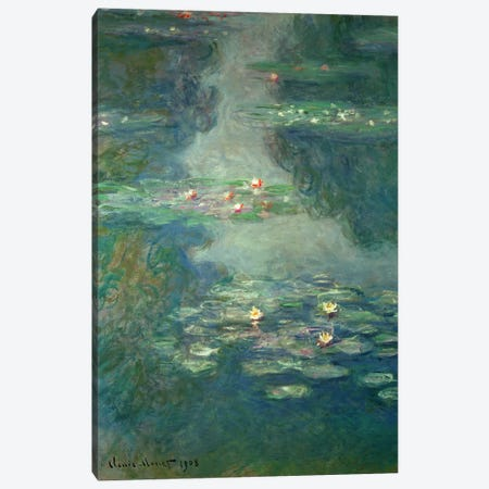 Waterlilies, 1908  Canvas Print #BMN4514} by Claude Monet Art Print