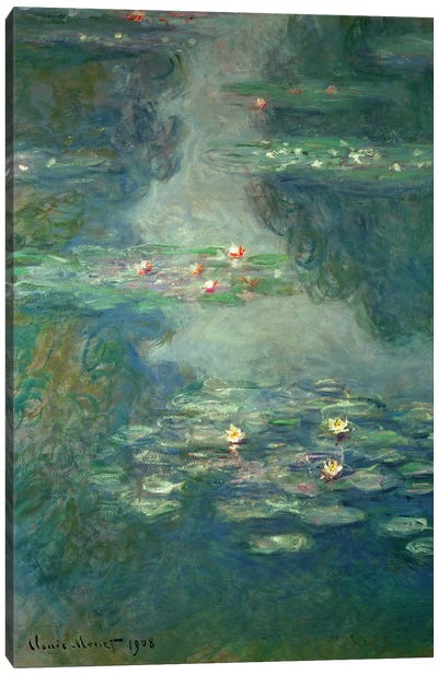 Waterlilies, 1908  Canvas Art Print